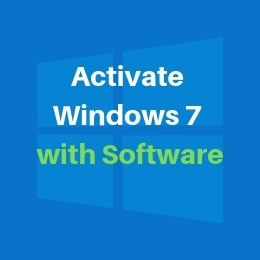 activate windows 7 with software