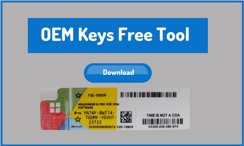 Windows 10 OEM Key Tool/Generator (Home/Pro)